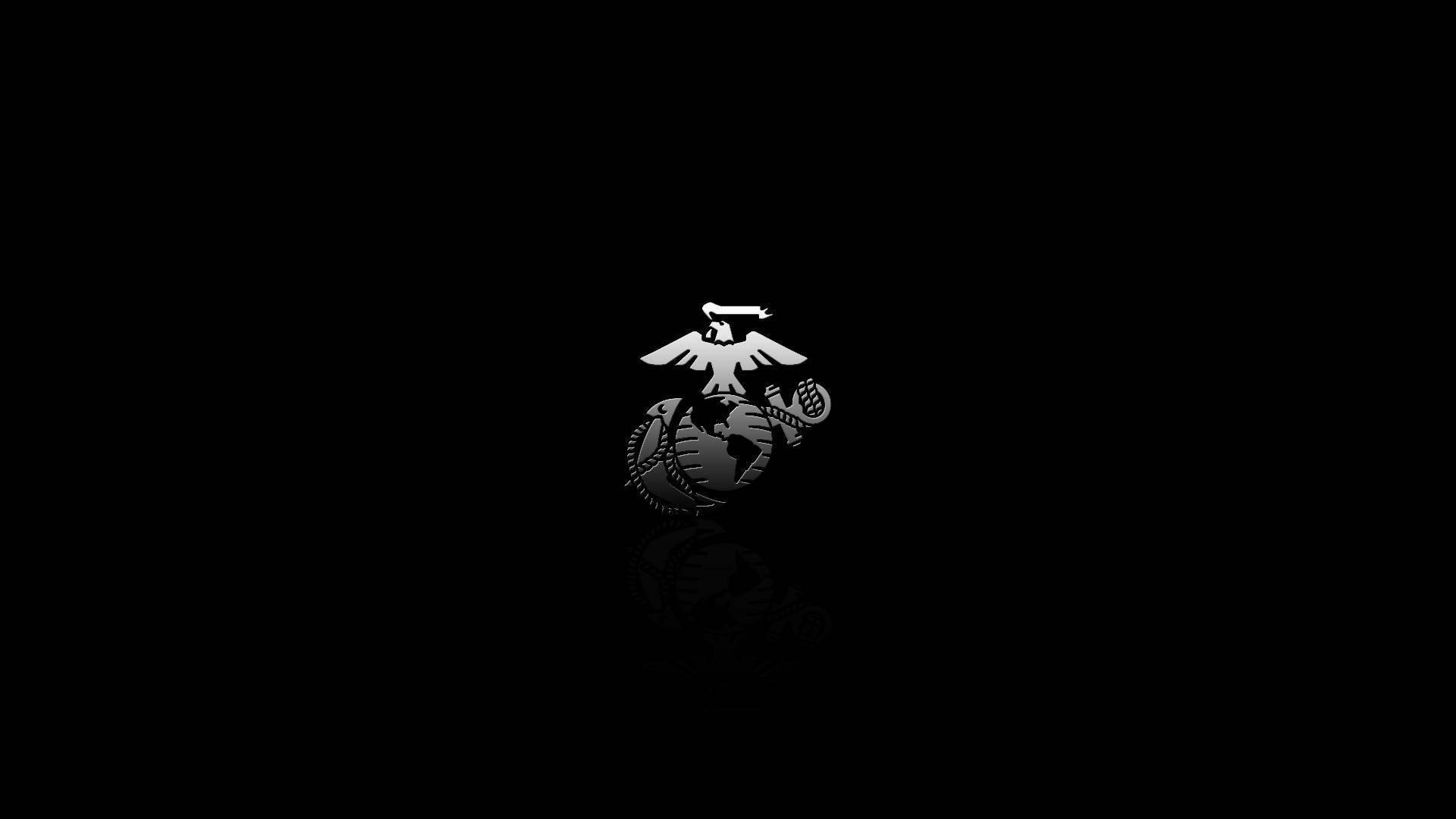 24 USMC Logo Dark Backgrounds 575 :: Us Marines Desktop Wallpapers