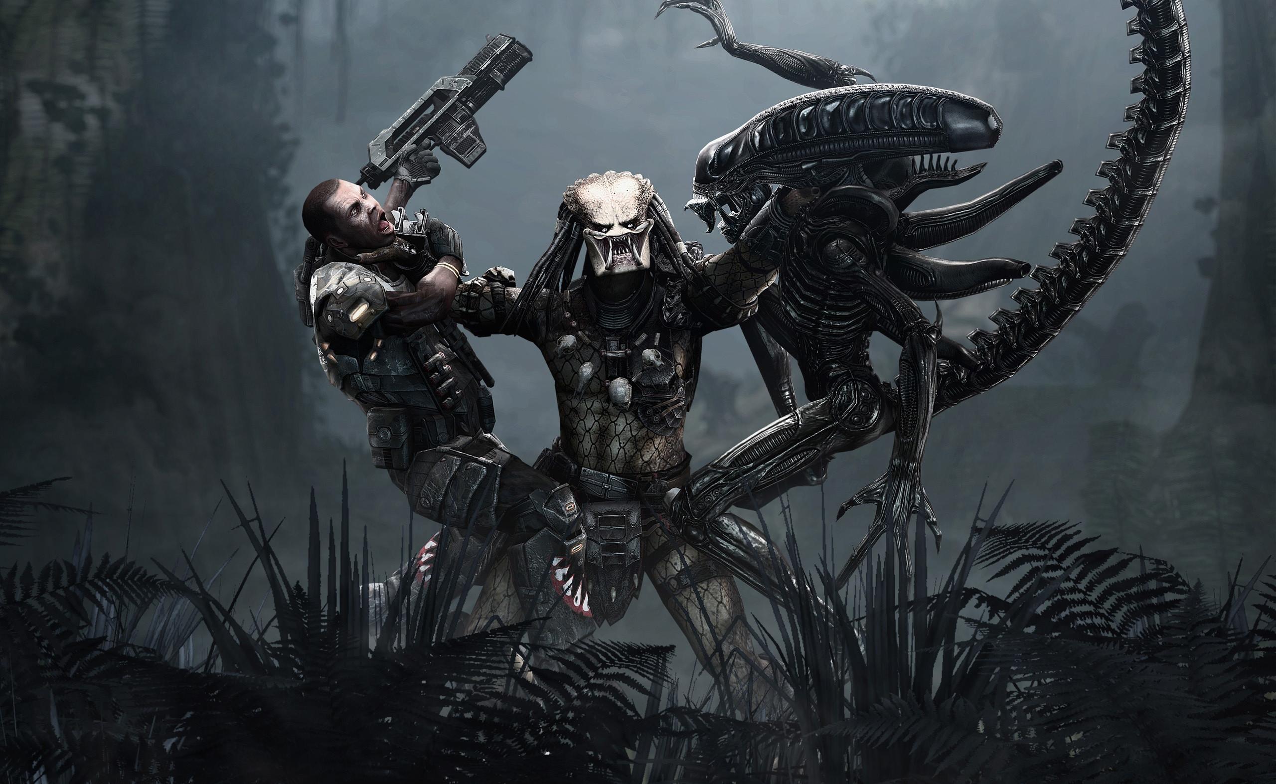 27 Aliens Vs. Predator HD Wallpapers   Backgrounds – Wallpaper Abyss