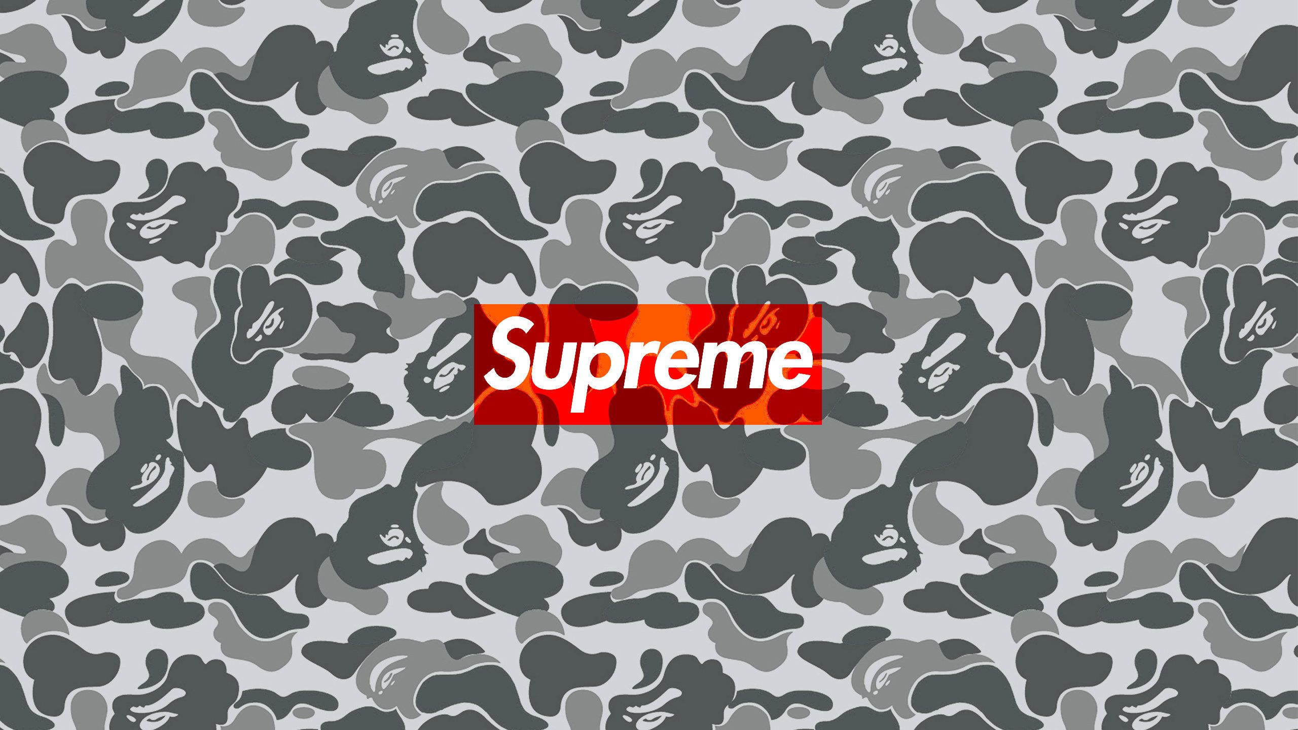 Download the Supreme Bape Camo wallpaper below for your mobile device  (Android phones, iPhone etc.)