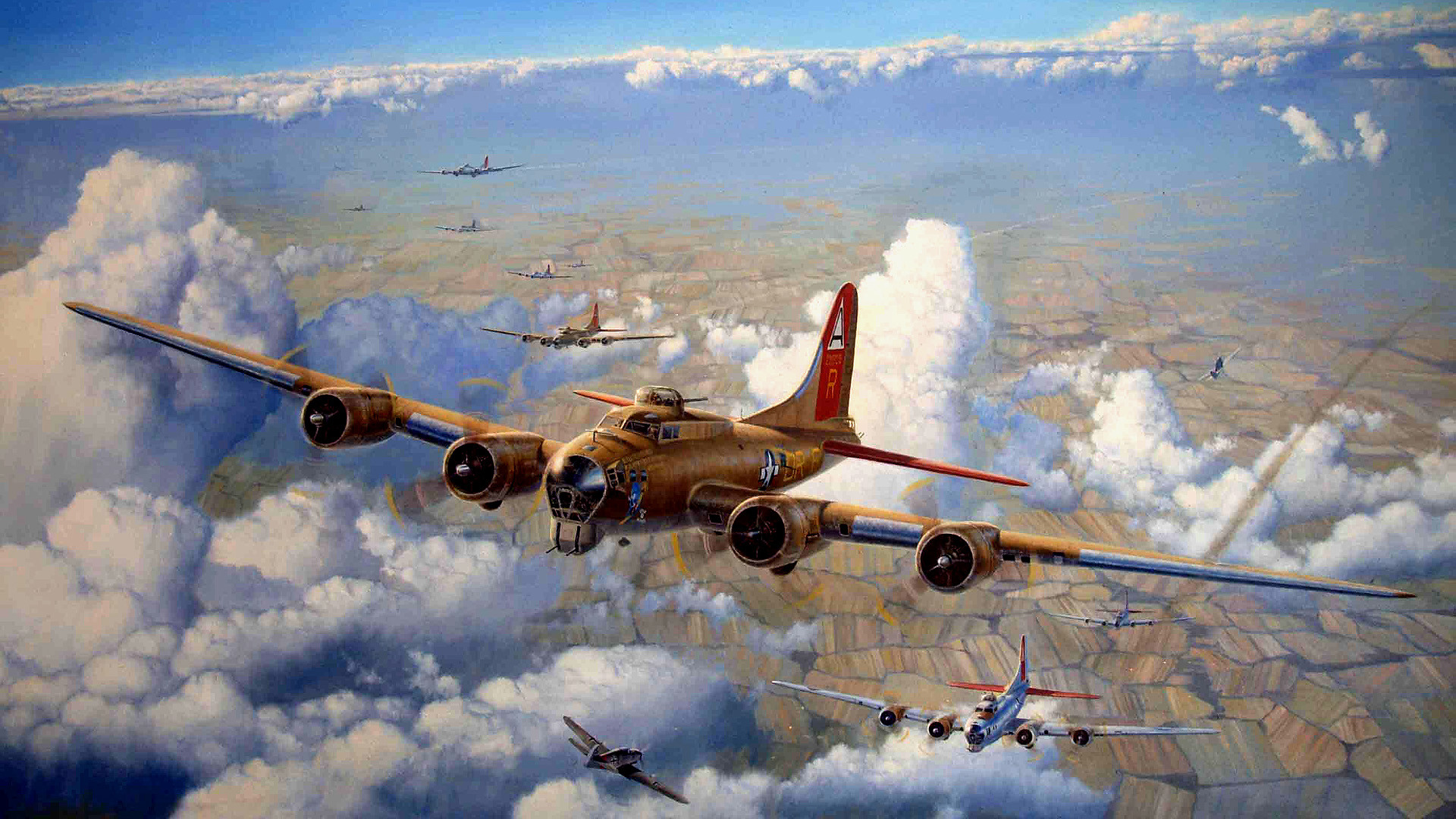 64 Boeing B-17 Flying Fortress HD Wallpapers | Backgrounds – Wallpaper  Abyss – Page 2