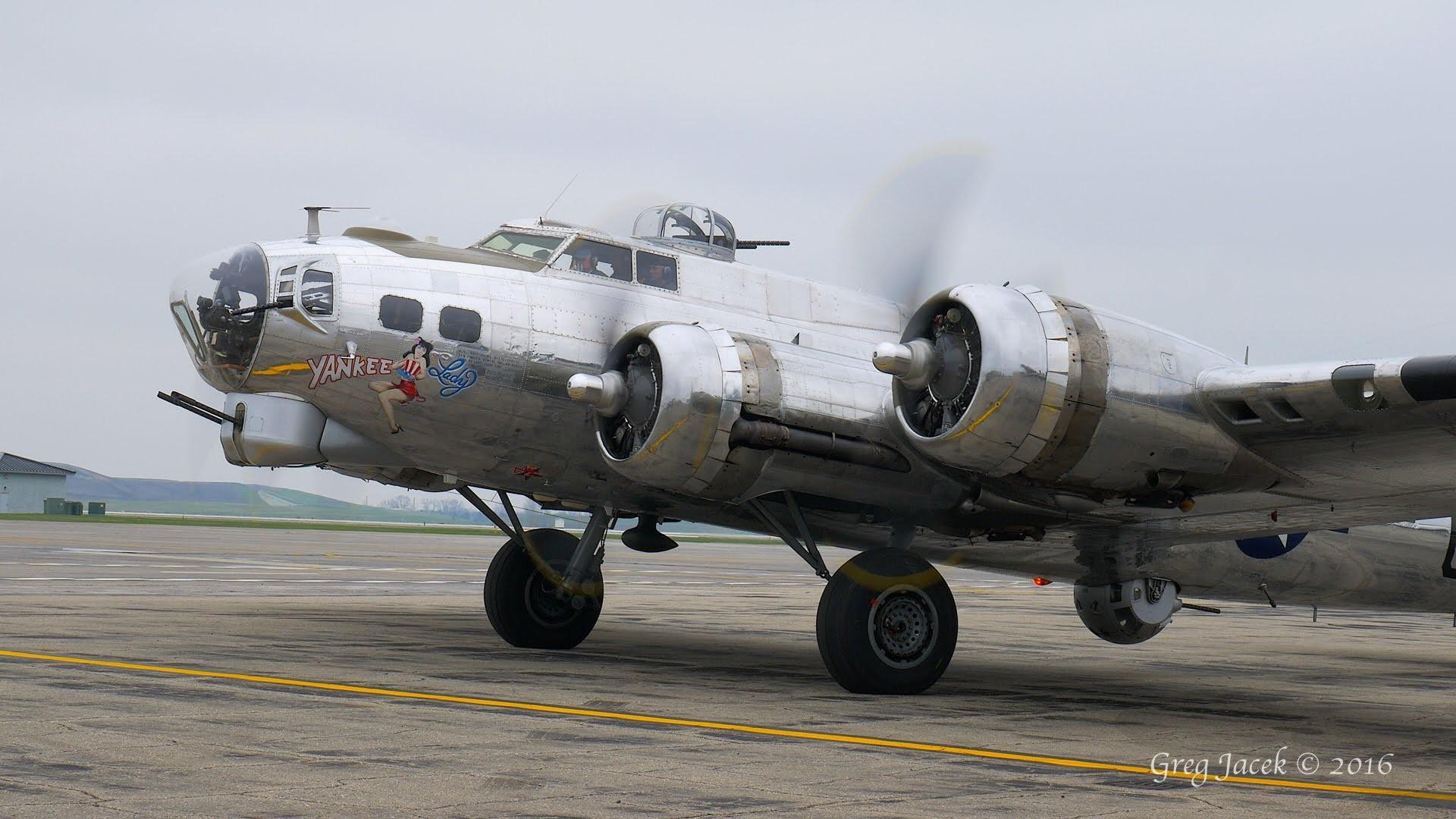 B-17 Yankee Lady Start-up and Take-off 5.1 Surround Sound 4K