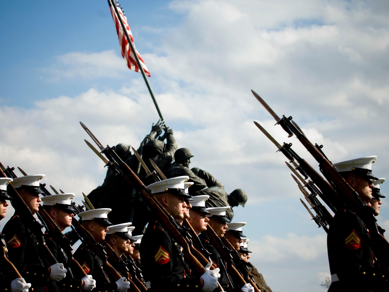 USMC In Dress Uniform