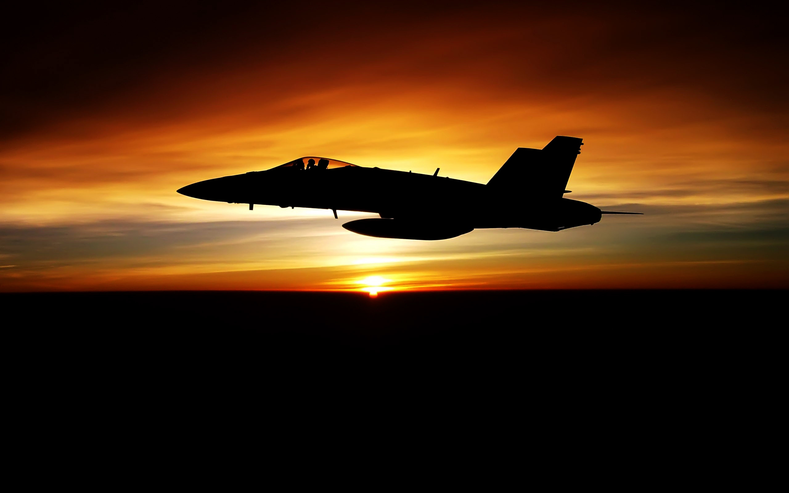 Aircraft FA-18 Hornet Military Sunset United States Navy …