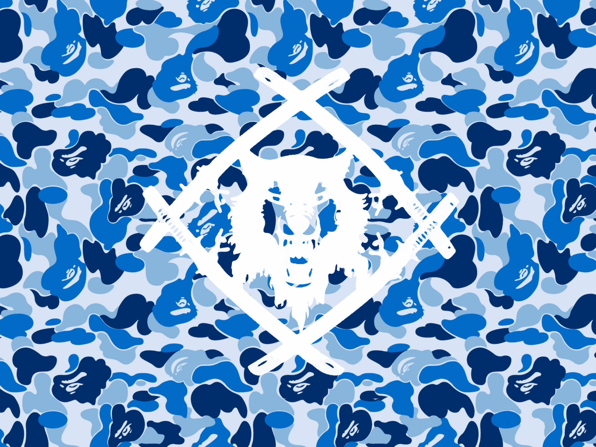… HollowSquad Blue Camo [White] [Portrait] by 12GVU