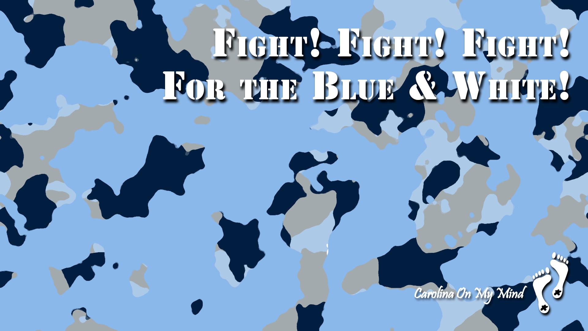 Fight Fight Fight Camo UNC Desktop Wallpaper 1920 x 1080
