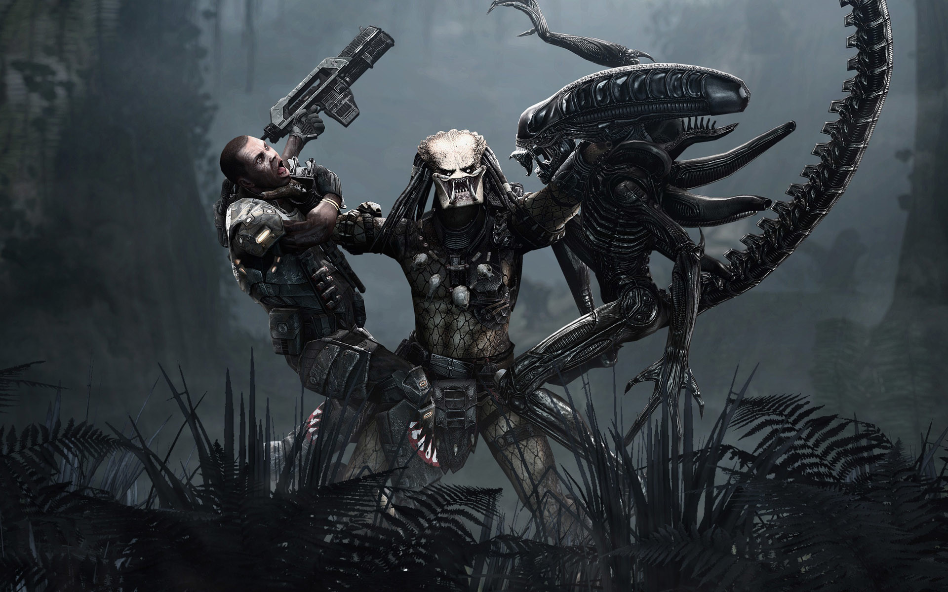 Predator Human US Marines Corps Xenomorph …
