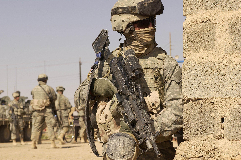 American Soldier on War wallpaper