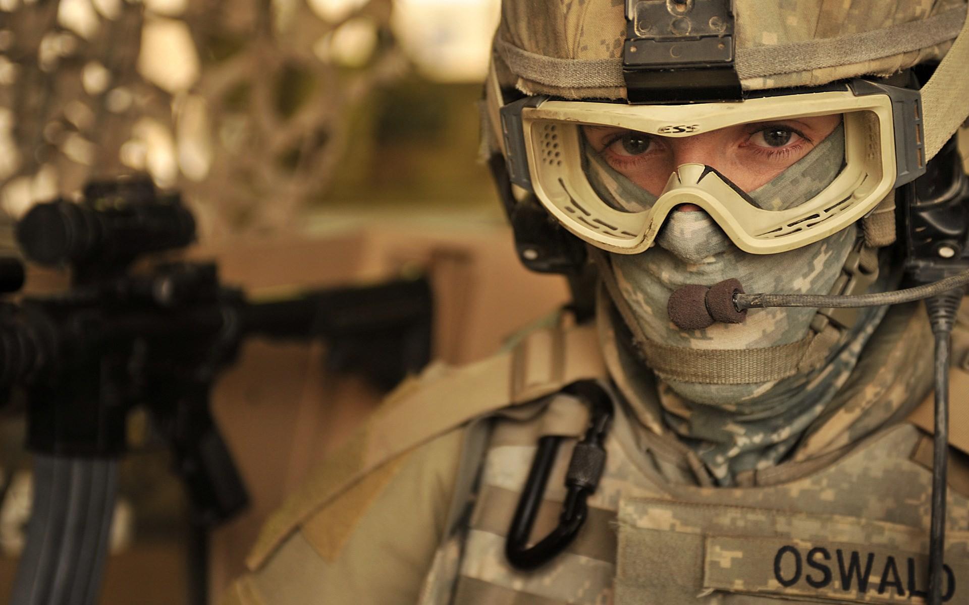Portrait Soldier Military Wallpaper