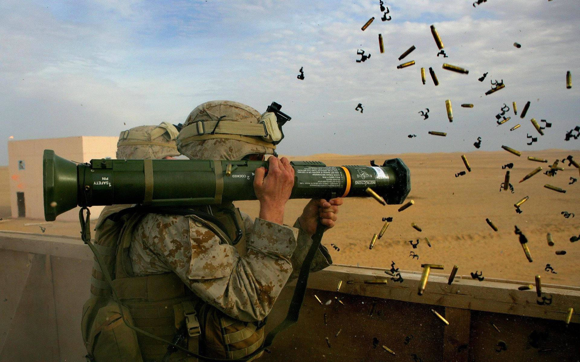 us soldiers in combat   Soldiers Wallpaper : Soldiers army Combat marines  rocket launcher .