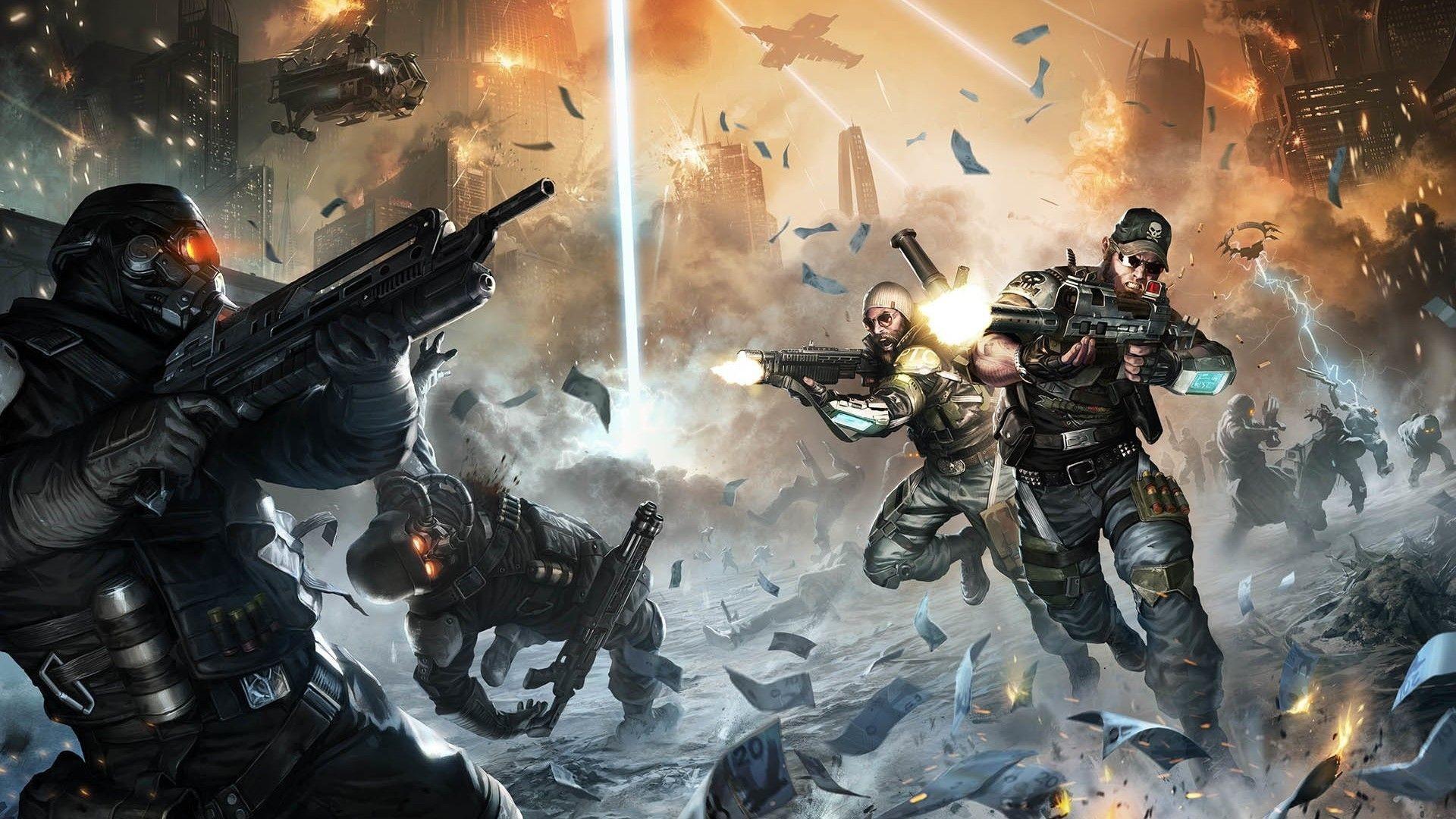 Download HD Wallpaper killzone invasion soldier fighter .