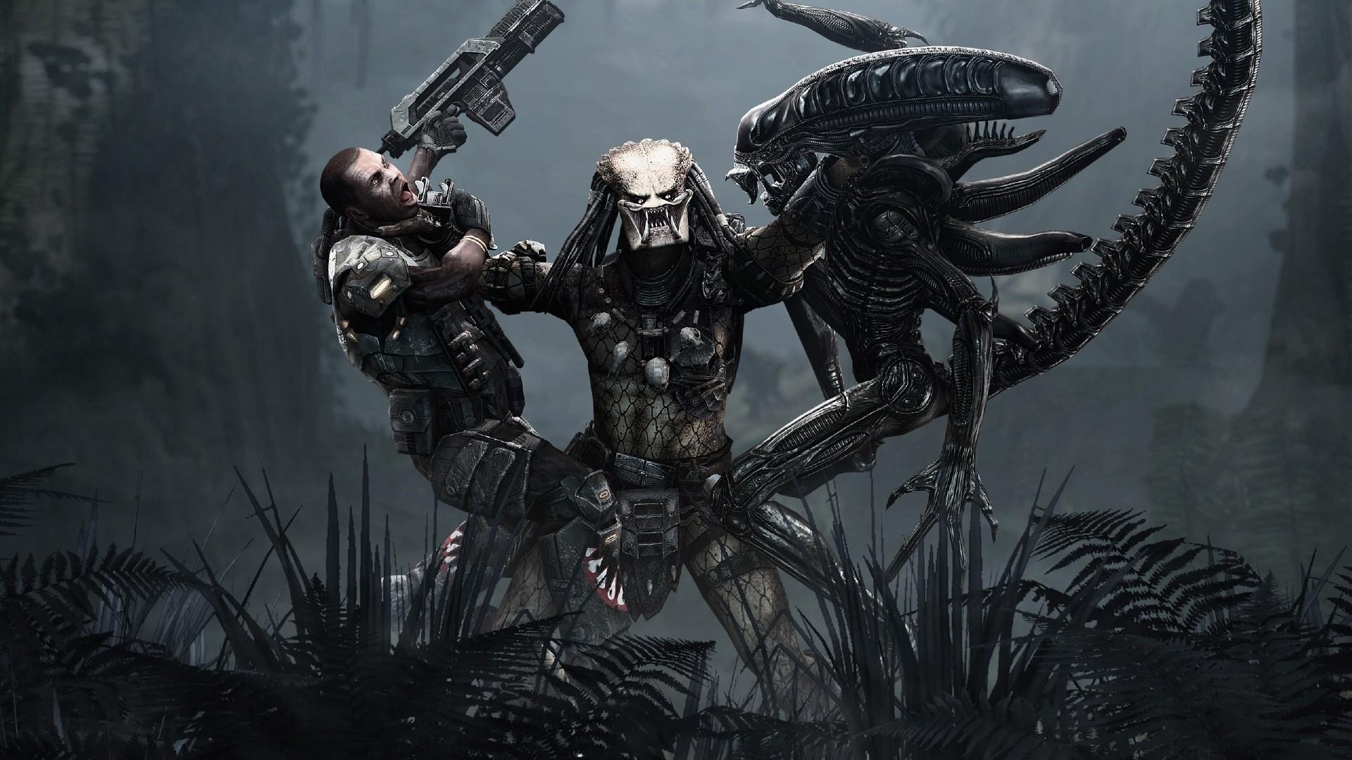 0 Download Alien Wallpaper Wallpoper #449786 Full HD Wallpaper  alien vs predator scramble monster jungle rifle .
