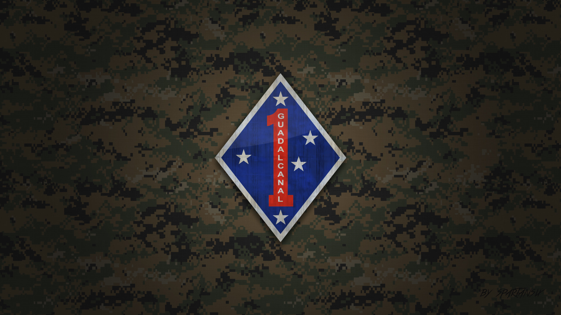 … 1st Marine Division Wallpaper by SpartanSix by SpartanSix