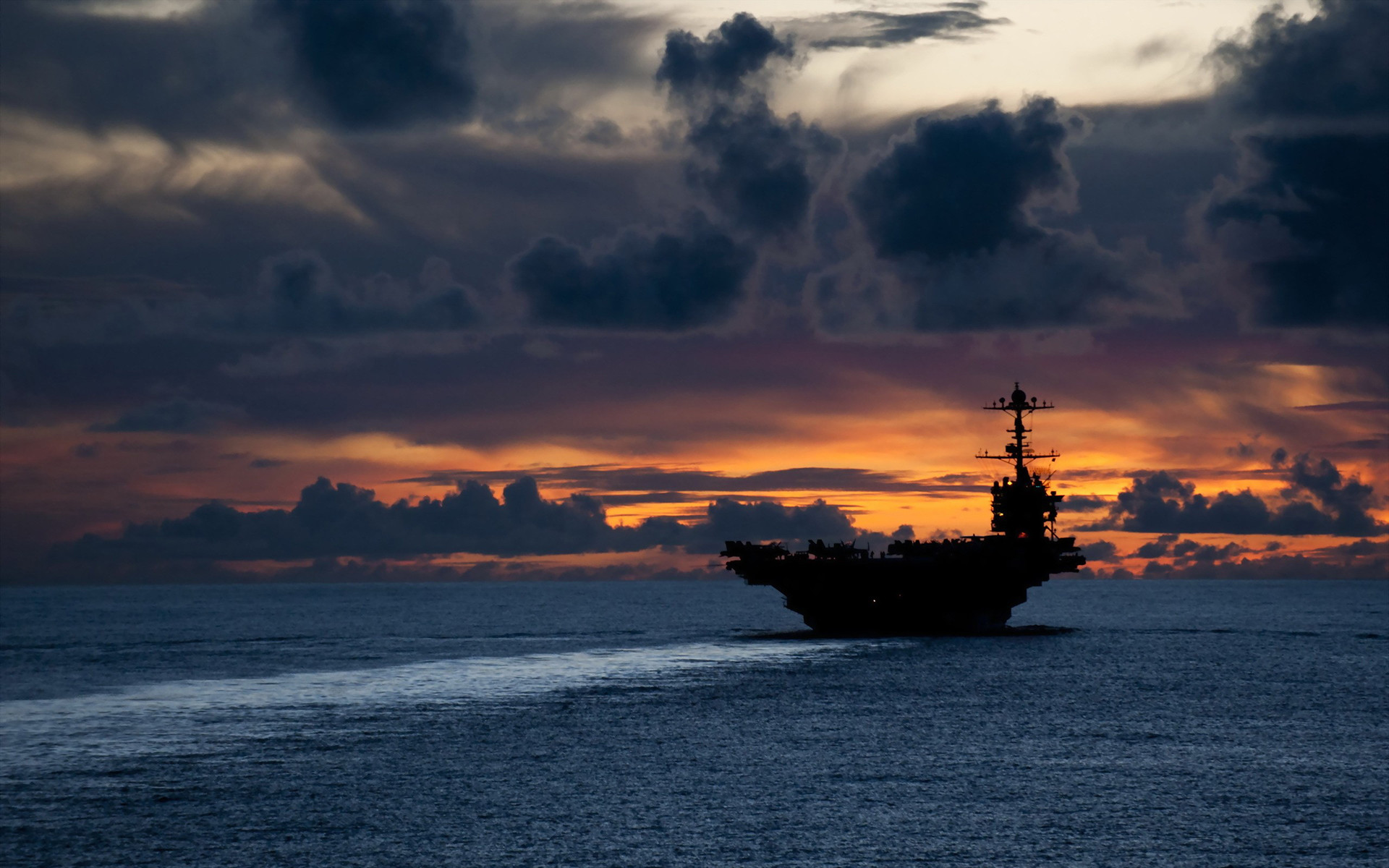 Aircraft Carriers Military Sunset US Navy …