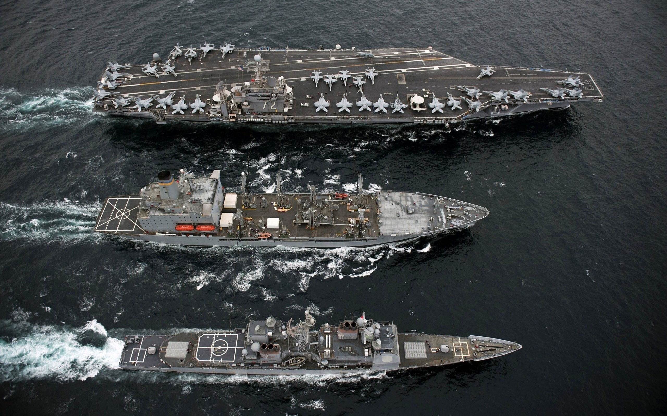 Aircraft Carriers CVN-72 Military Ships Unrep US Navy USS Abraham Lincoln