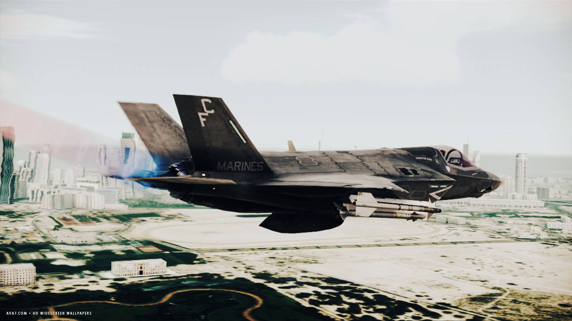 ace combat 6 fires of liberation game marines warplane rockets hd  widescreen wallpaper