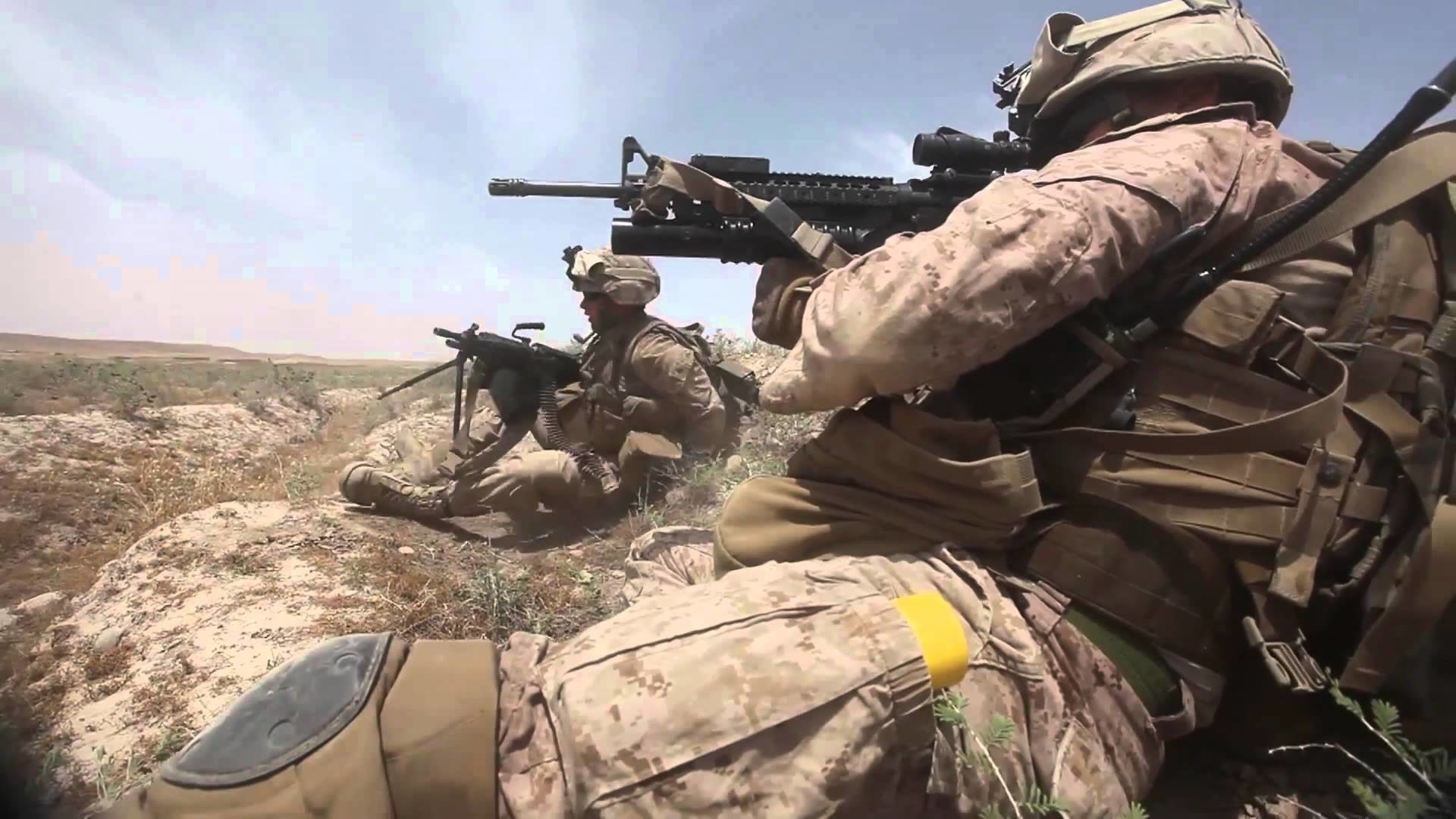 United States Marines Engage in Combat Against Taliban Forces Afghanistan  Real Combat Footage