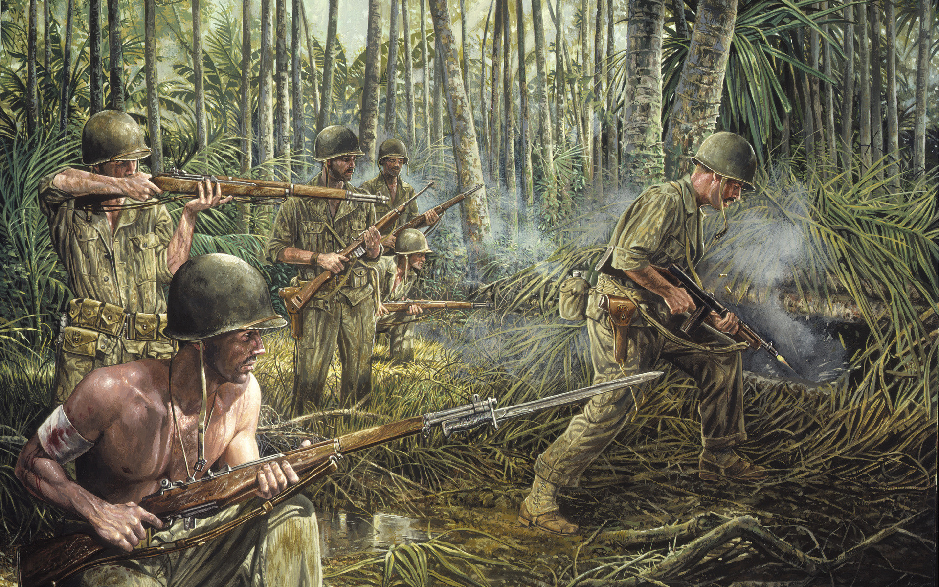 Battle of Iwo Jima World War II Painings, Art Wallpaper