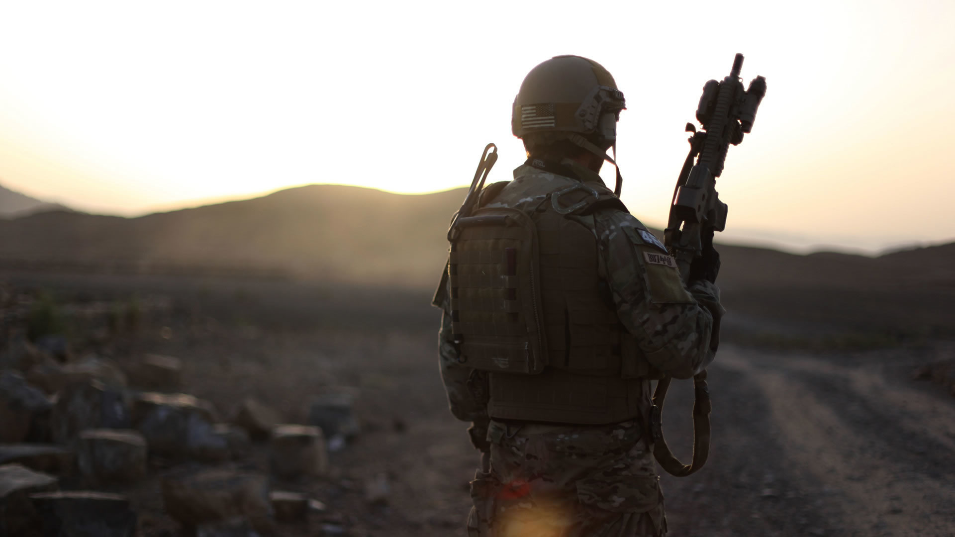 Lone American Soldier Wallpaper