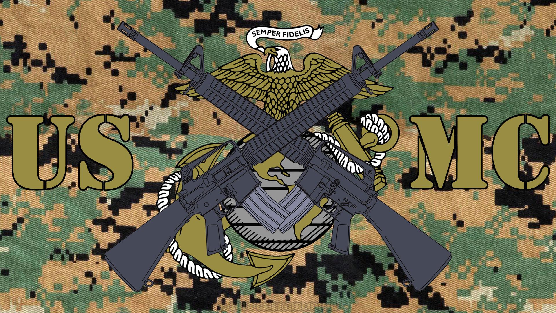 US Marine Corps Logo Wallpaper WallpaperSafari