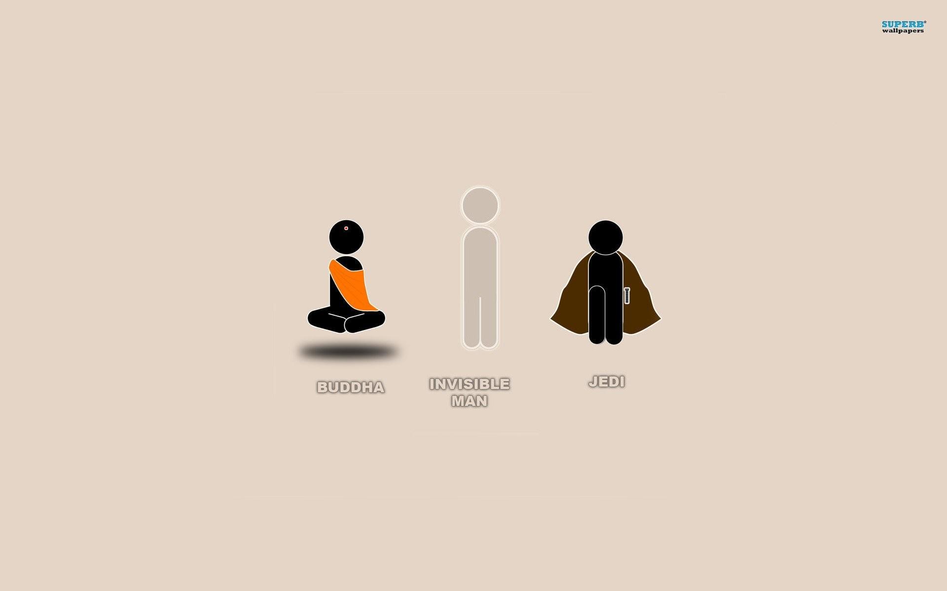 … buddha invisible man and jedi 444373 walldevil …