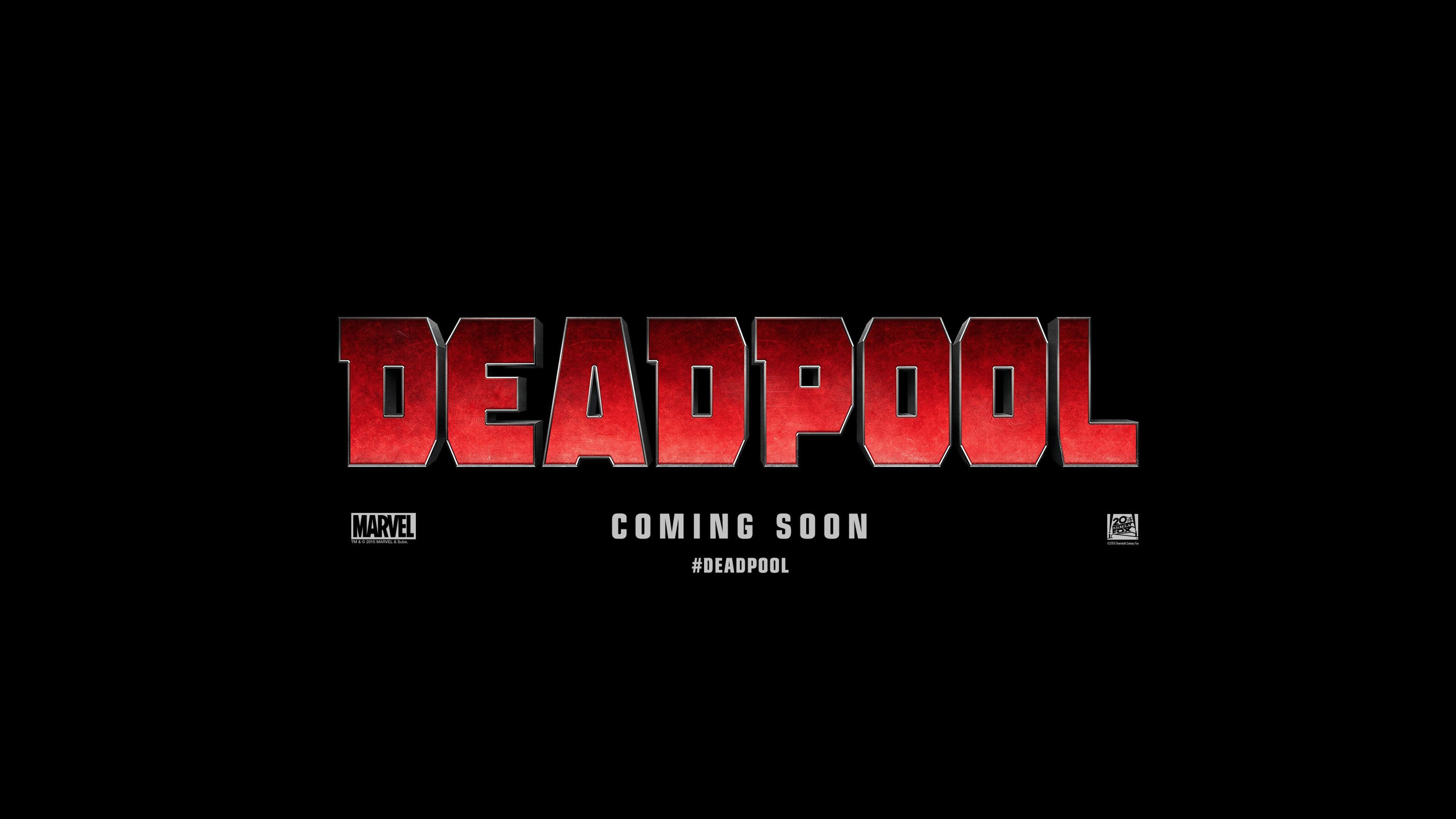 Deadpool 4K Logo wallpaper