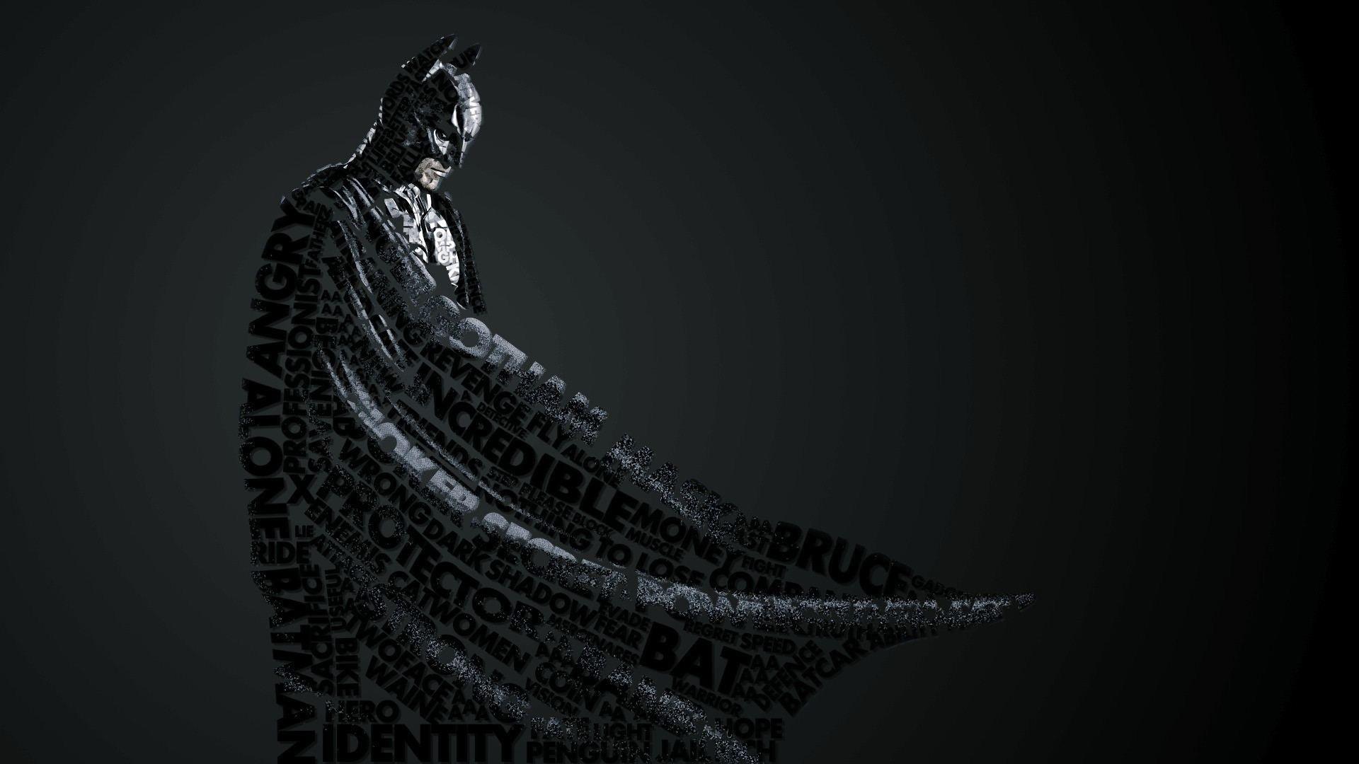 Preview wallpaper batman, style, lettering 1920×1080