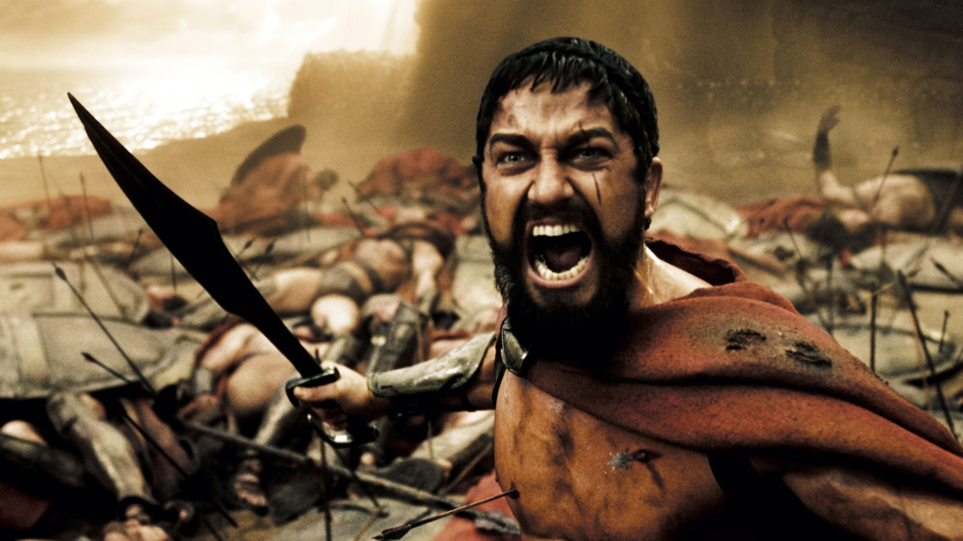 Preview wallpaper this is sparta, 300, king, leonidas, warrior, sword,