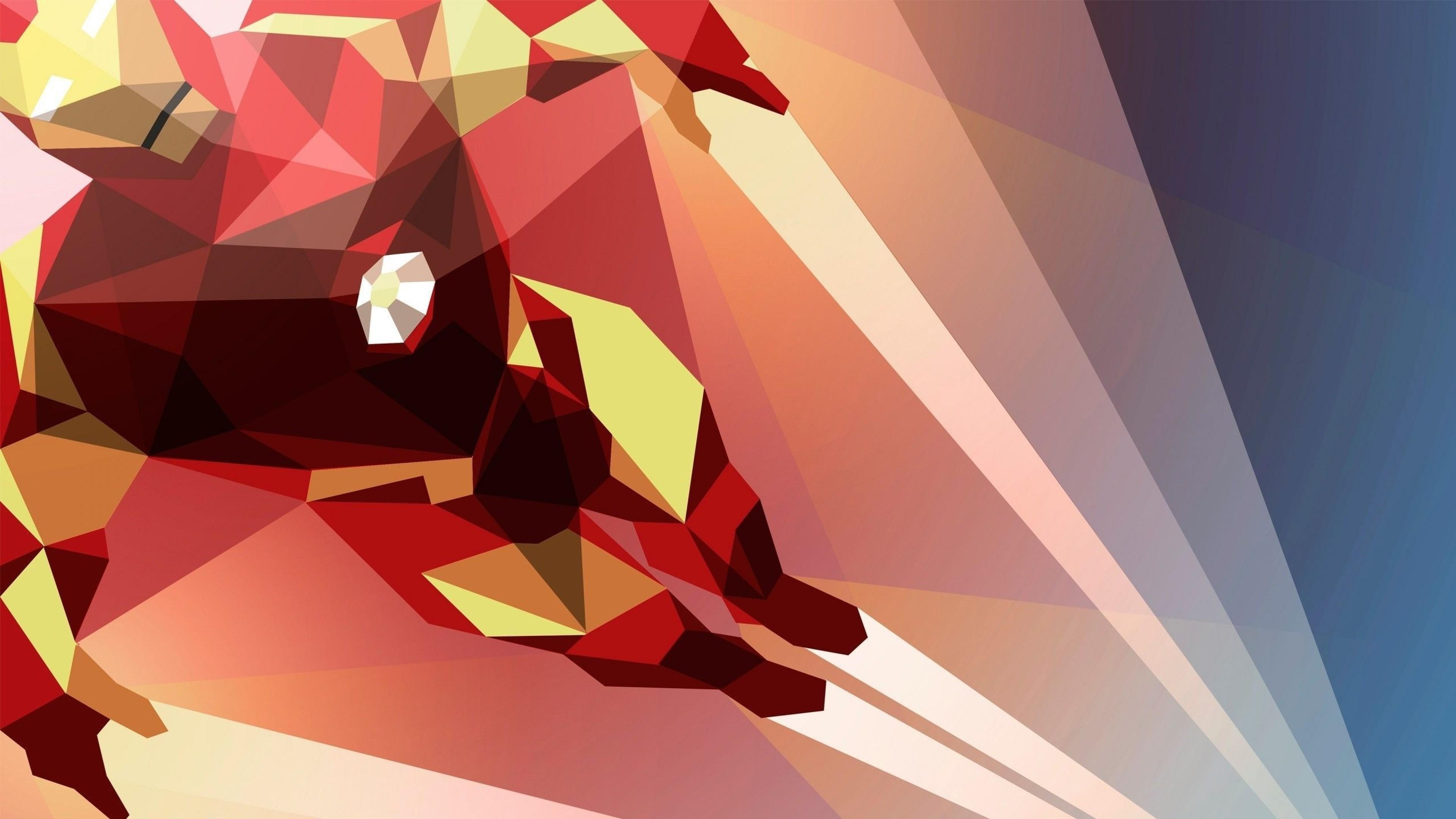 Preview wallpaper superhero, iron man, bright 3840×2160