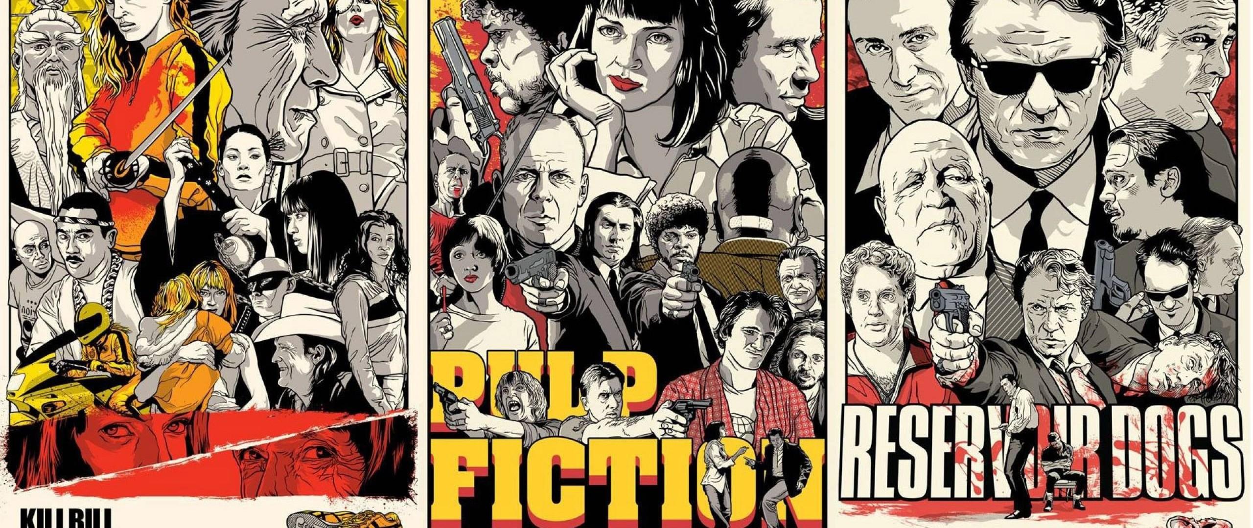 Preview wallpaper quentin tarantino, pulp fiction, kill bill, reservoir  dogs 2560×1080