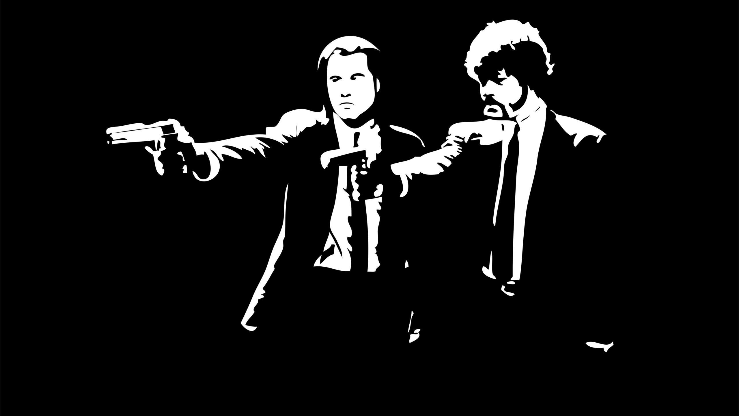 John Travolta, Samuel Jackson, Pulp Fiction, Pulp Fiction Action Art