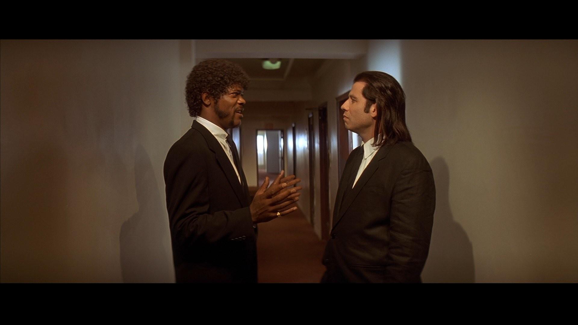 Movies Pulp Fiction Samuel L. Jackson John Travolta .