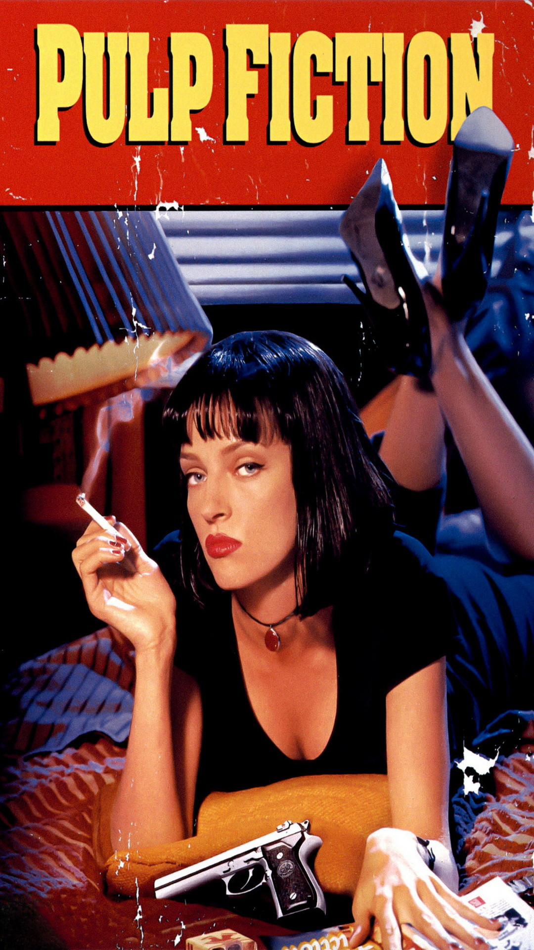 Movies Pulp Fiction Uma Thurman Colorful Quentin