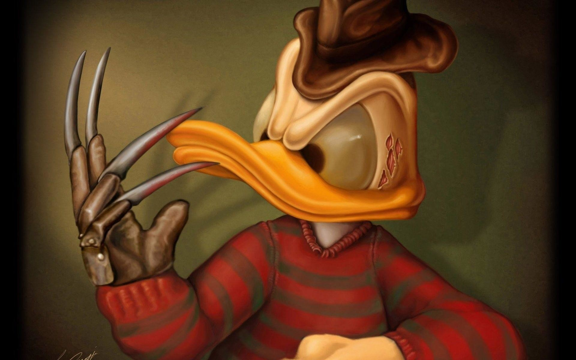 Donald Duck as Freddy Krueger Exclusive HD Wallpapers
