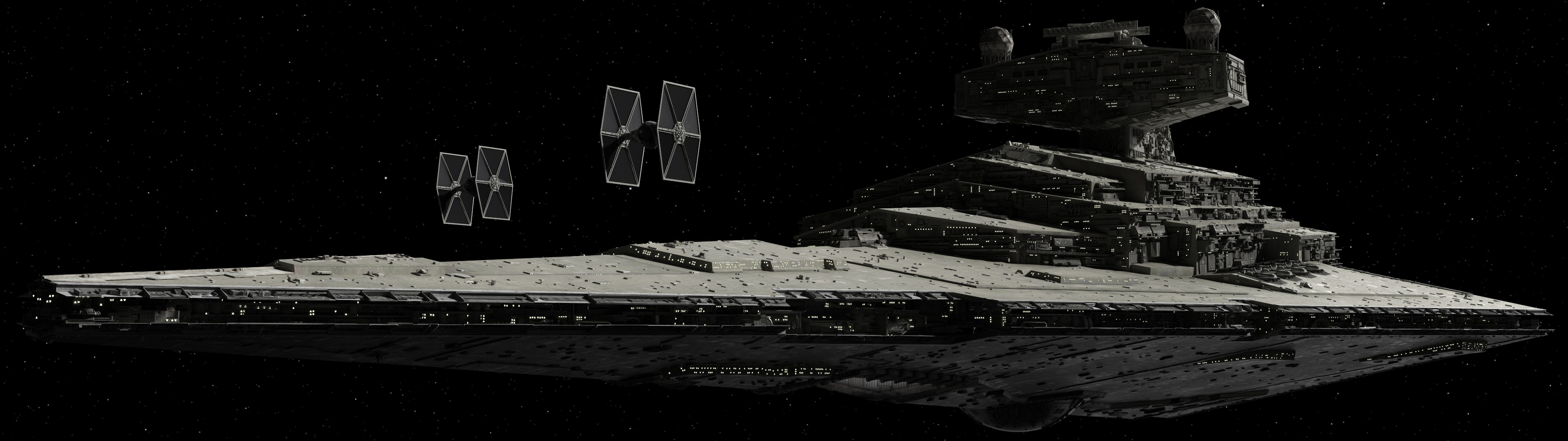 A few dual-monitor Star Wars wallpapers I made