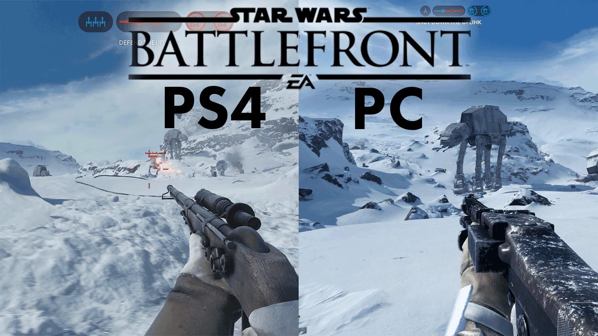 Star Wars Battlefront BETA | PC vs PS4 | 4k vs 1080p ULTRA Gameplay  Comparison – YouTube