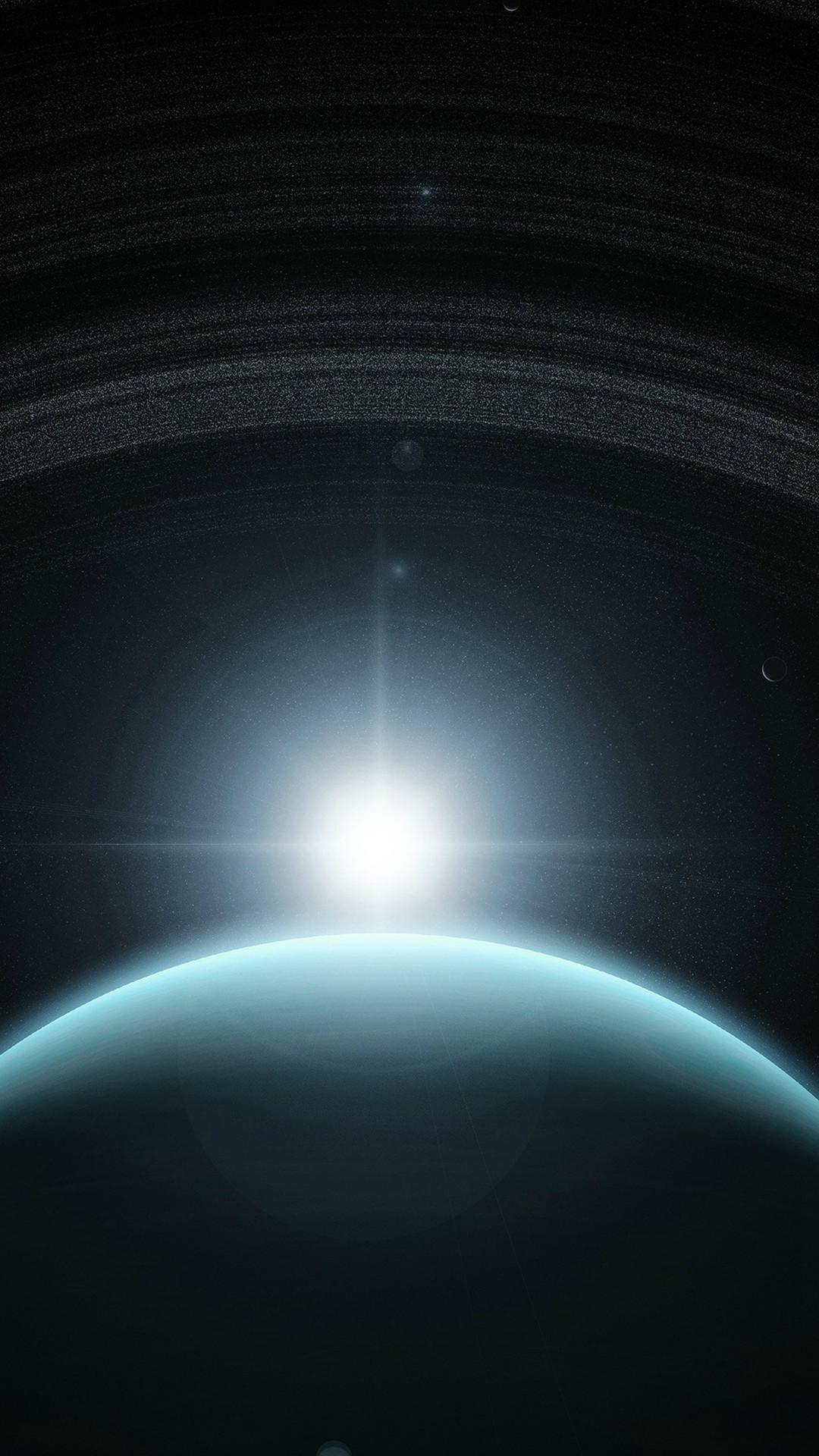 Space Planet Blue Interstellar Light #iPhone #6 #plus #wallpaper