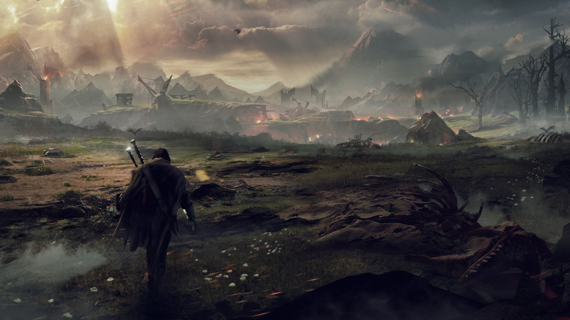 Wallpaper middle-earth shadow of mordor, the lord of the rings,  talion