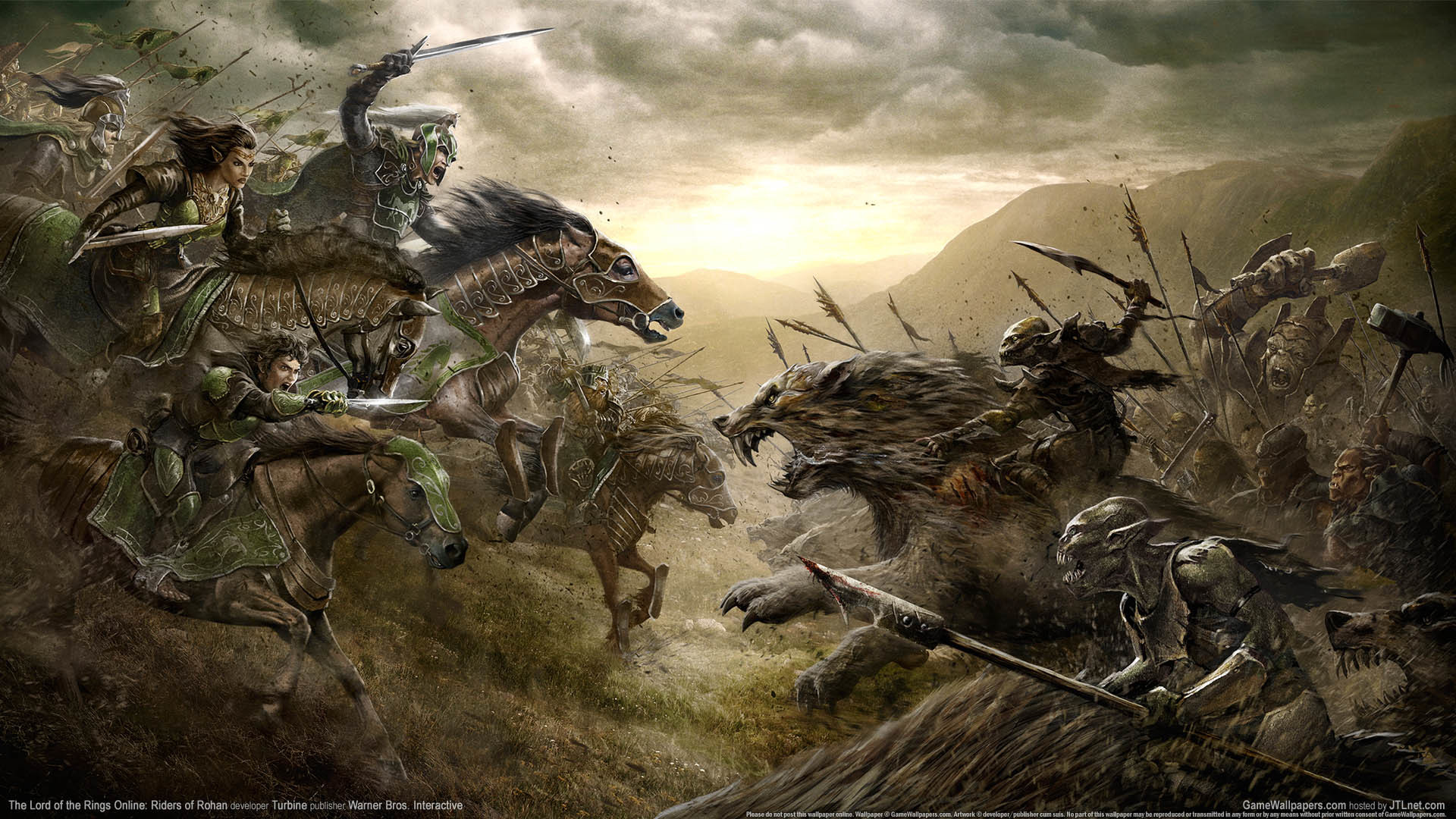 The Lord of the Rings Online: Riders of Rohan wallpaper 01 1920×1080