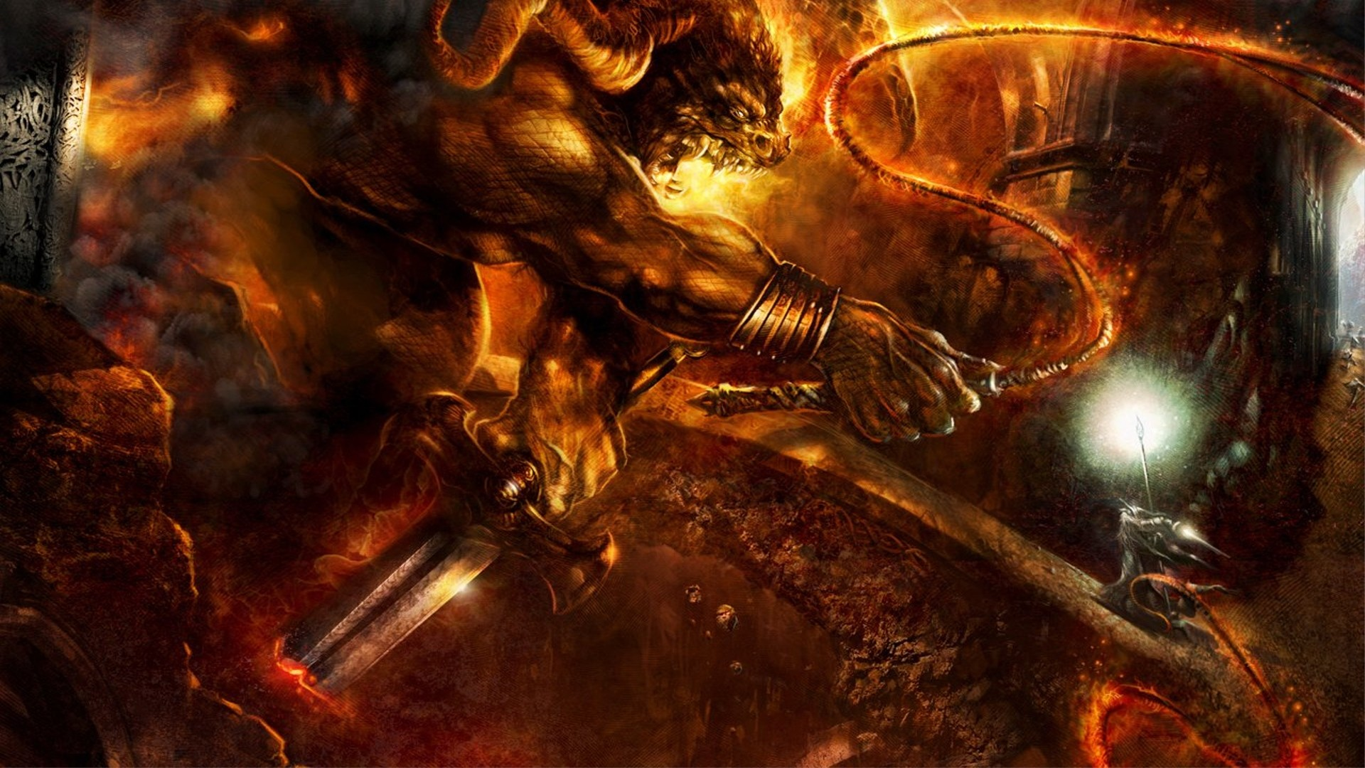 Gandalf Wallpaper Balrog, Gandalf, The, Lord, Of, The, Rings