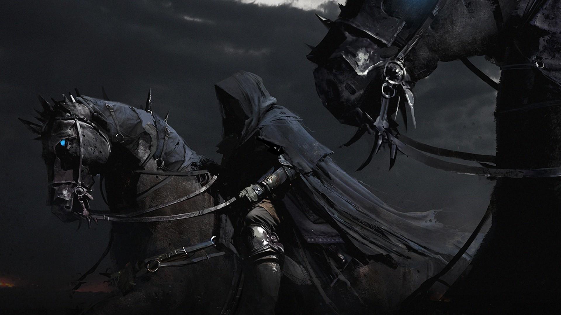 fantasy art horses nazgul ringwraith lord of the rings online wallpaper –  Animals Horses HD Desktop Wallpaper