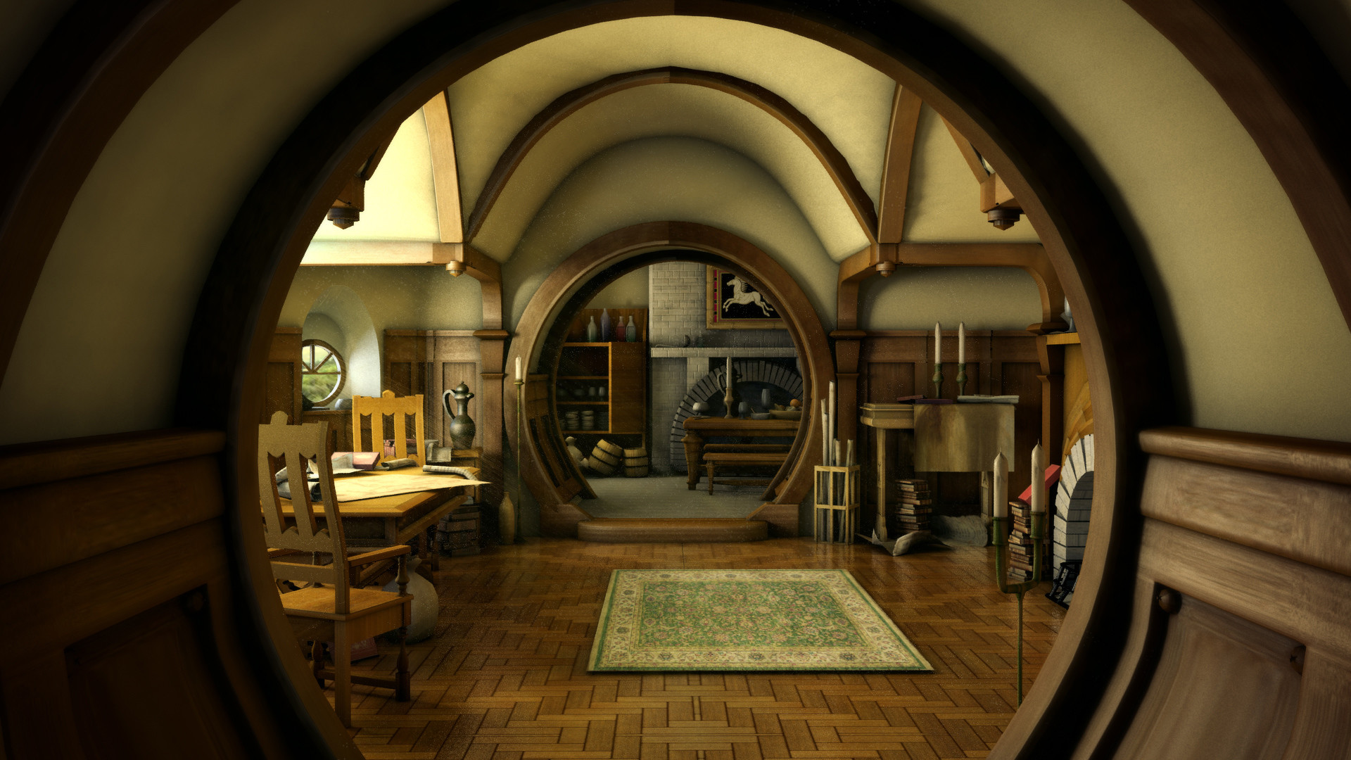 The Hobbit lord rings lotr architecture house room building fantasy  interior design wallpaper     31018   WallpaperUP