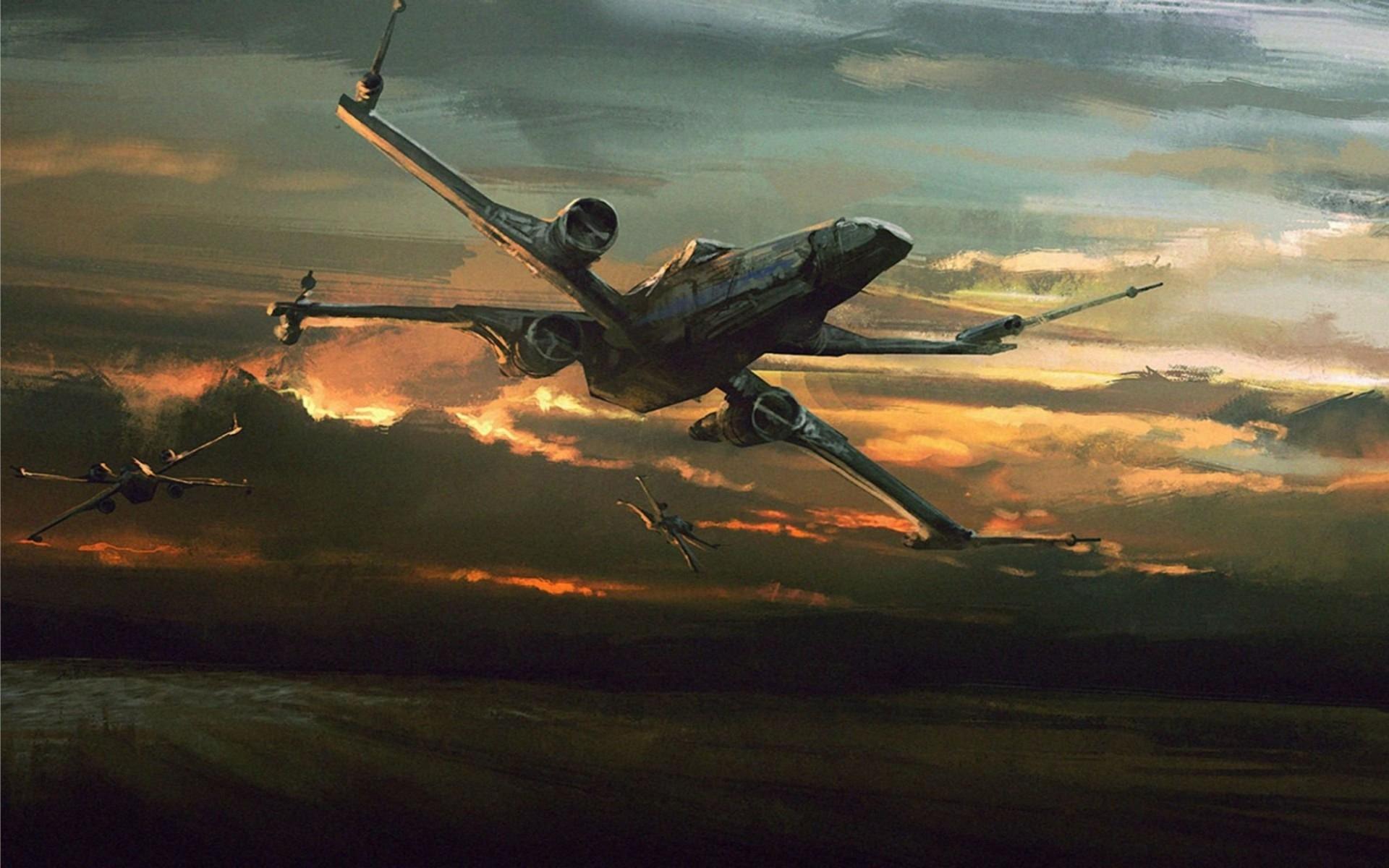 Best X-Wing Fighter Star Wars The Force Awakens 4K Wallpaper