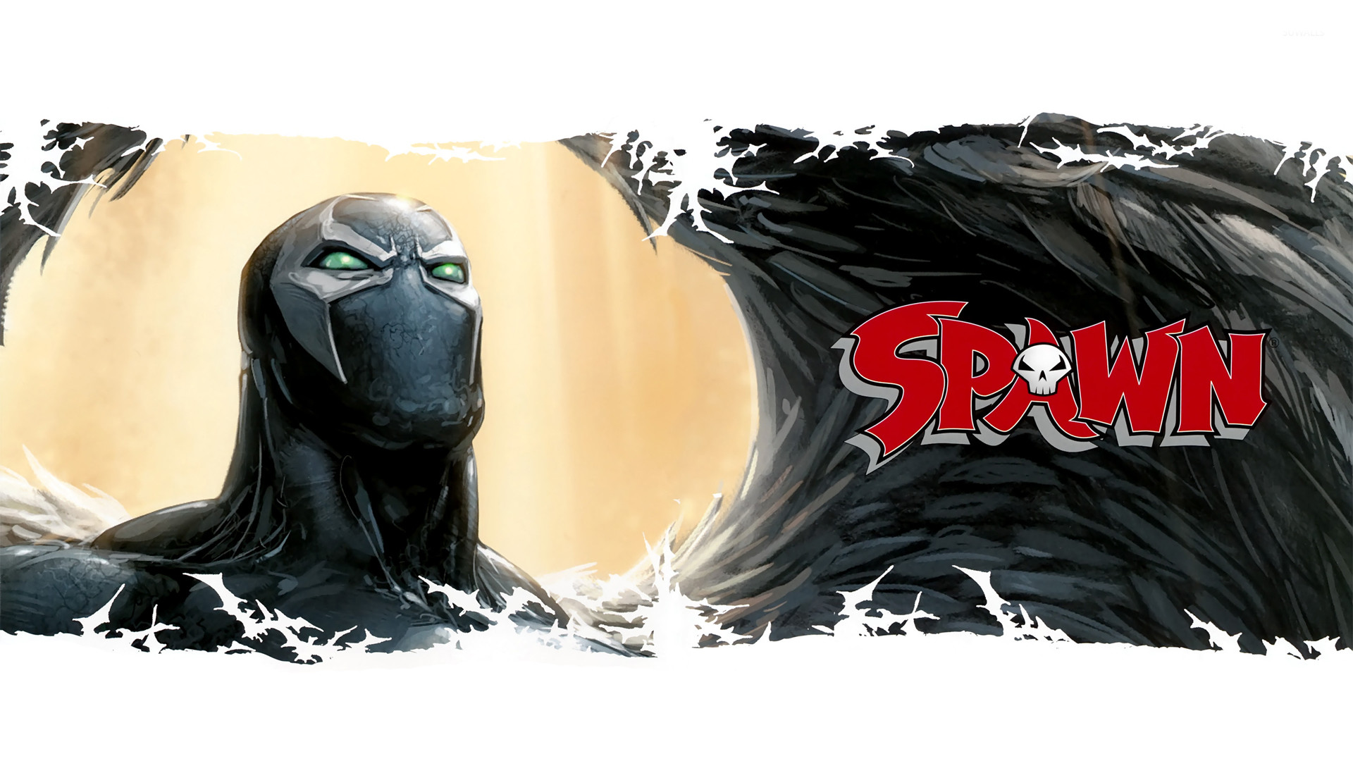 Spawn with black wings wallpaper