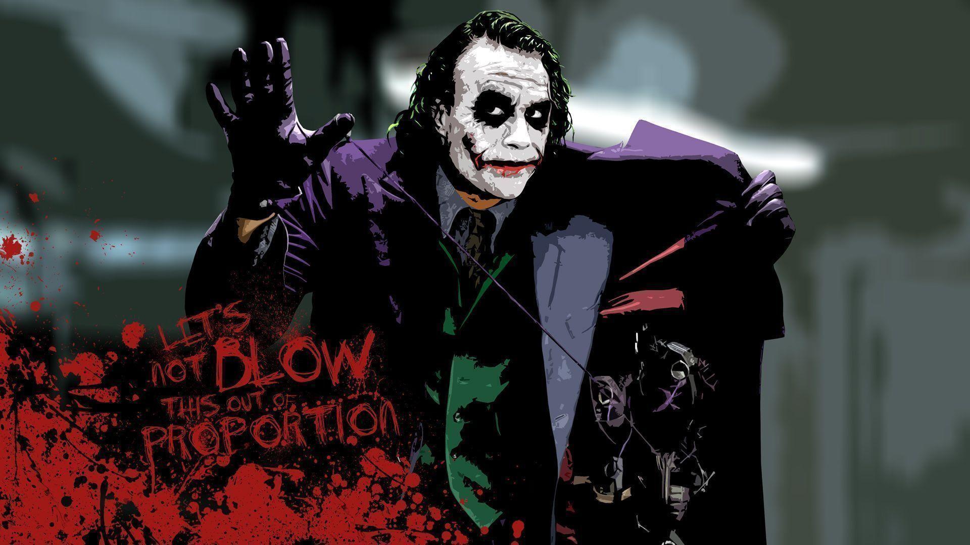 Heath Ledger Joker HD Wallpaper 1920×1080