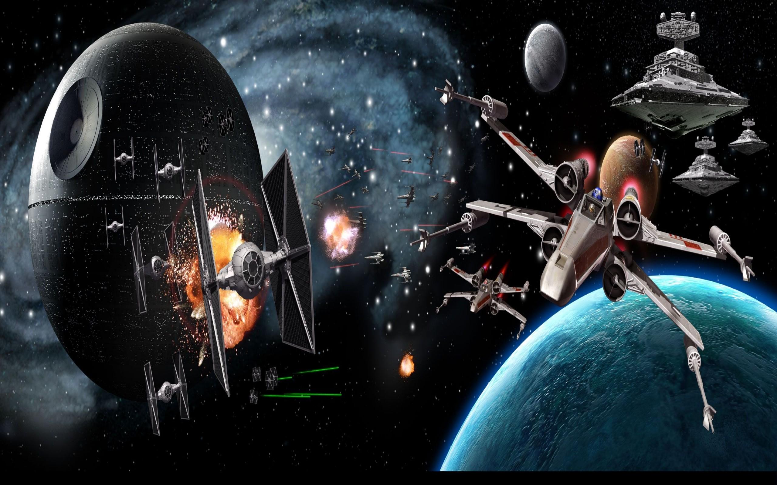 Star Wars Dual Screen Wallpaper 2560X1024