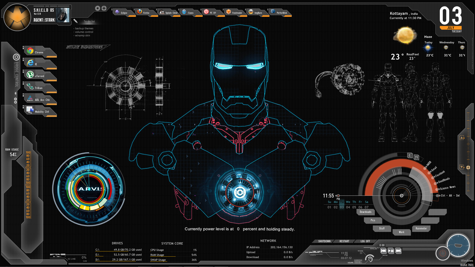 <b>iron man jarvis wallpaper hd</b> for android | <