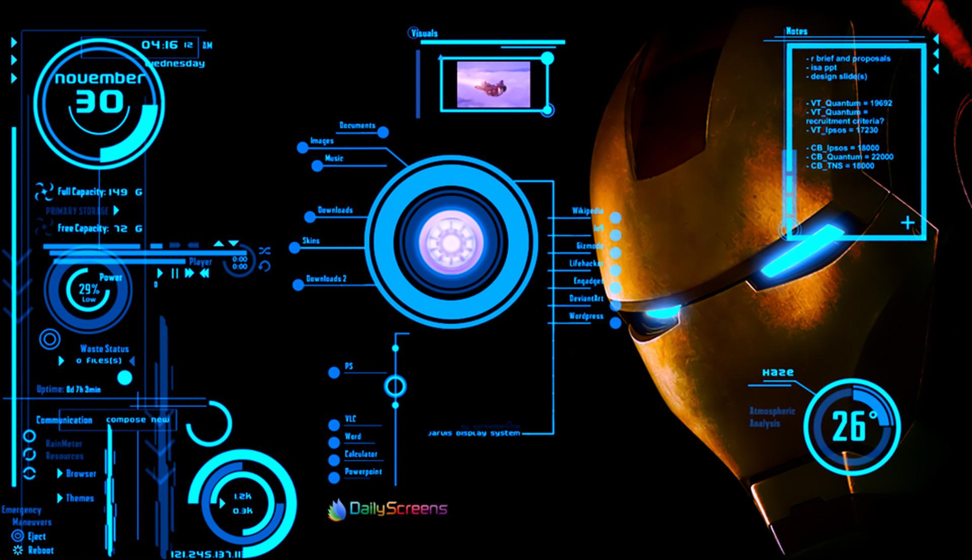 138 Jarvis Iron Man Wallpaper Hd