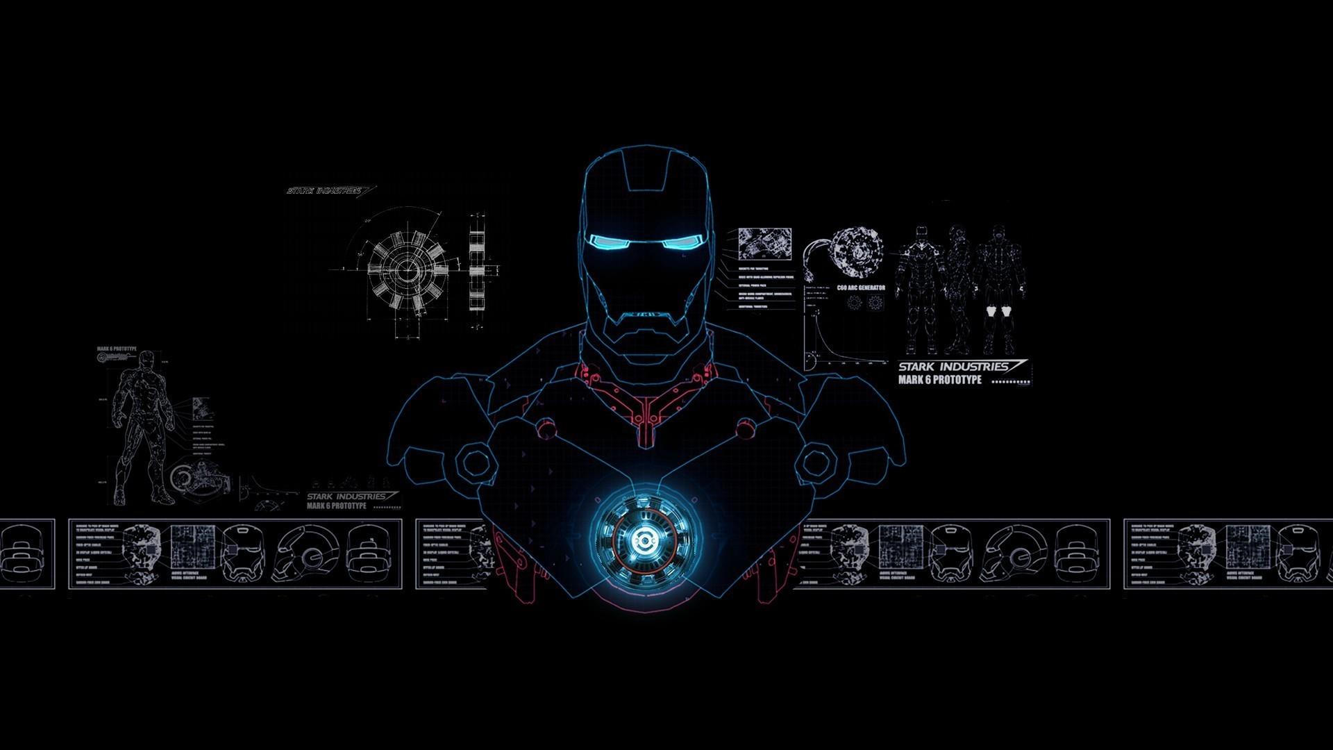 Iron Man Stark Industries Blue-Print – Wallpaper (#821228 .