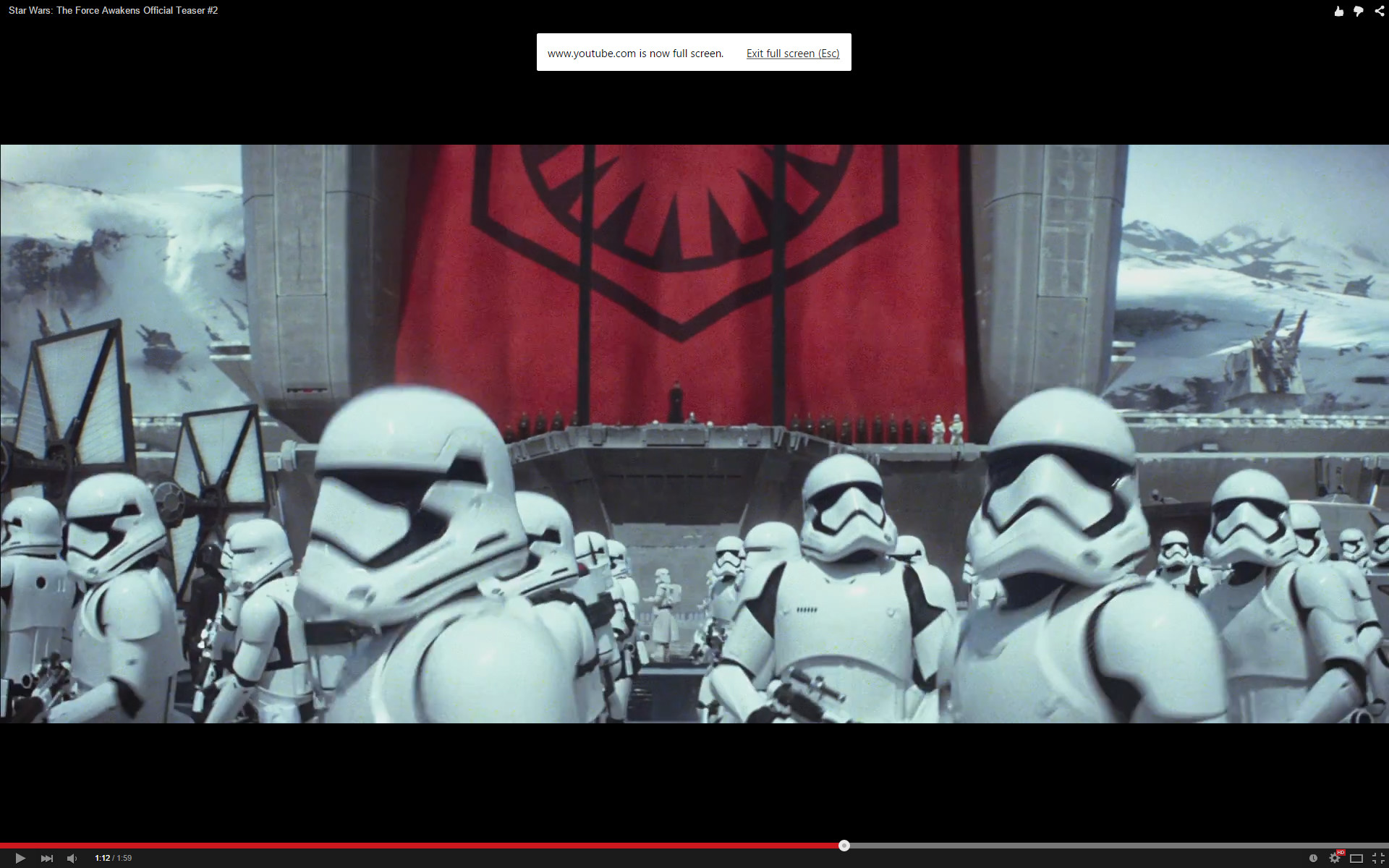 That emblem, those huge turrets in the background. Hell, those  stormtroopers look ready to tear shit up.