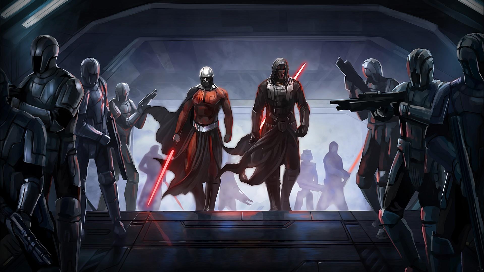 Video Game – Star Wars: The Old Republic Darth Malak Darth Revan Mandalorian  War Star